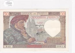 Billet De 50 Francs JACQUES COEUR Du 5 Septembre 1940 - P.10614 Alph 13 @ N° Fayette : 19.2 - 1871-1952 Anciens Francs Circulés Au XXème