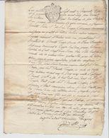 FRANCE. TRES VIEUX DOCUMENT.  1 MARS 1763. BAILLAGE DE GEX PRES DE GENEVE SUISSE - Alte Papiere