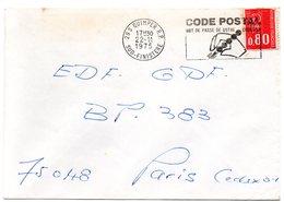 FINISTERE - Dépt N° 29 = QUIMPER RP 1975 = FLAMME à DROITE = SECAP Illustrée  'CODE POSTAL / MOT DE PASSE ' - Codice Postale