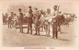 AFGAN WAR 1919 - THE AFGHANISTAN PEACE DELEGATES ~ A VINTAGE REAL PHOTO CARD #21102 - Afghanistan