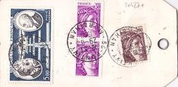 20427# LETTRE COLLIER DE SAC Obl 56 PONTIVY MORBIHAN 1980 Pour BANQUE DE FRANCE PARIS - Postmark Collection (Covers)