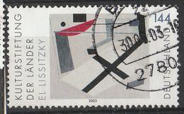 """PIA - GERMANIA - 2003 : Fondazione Culturale Dei Lander - """"Proun 30t""""  Quadro Del 1920 Di El Lsstzky- (Yv 2136) - Usati"""