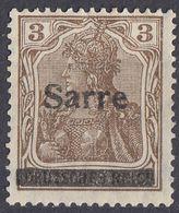 SAAR - SARRE - 1920 - Yvert 3 Nuovo Senza Gomma. - 1920-35 Società Delle Nazioni