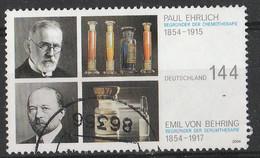 PIA - GERMA - 2004 : Premi Nobel : Paul Ehrlich Per La Chemioterapia E Emil Von Behring Per La Serioterapia - (Yv 2214) - Usati