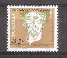 Portugal 1990 - 1 Sello Nuevo-Bartolomeu Perestrelo-Serie Navegantes Portugueses - 1910-... Republic
