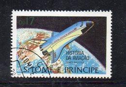 APR2532 - ST. THOMAS PRINCE 1980 , Yvert N. 577  Usato  (2380A) Space Shuttle - St. Thomas & Prince