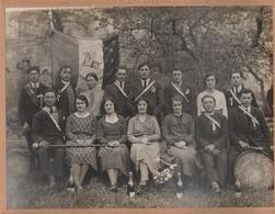 Photo Saint Barthélémy Le Plain  Ancienne Grand Format  La Classe 1933  Ardèche  Rare Photographe ROYAT TOURNON - Places