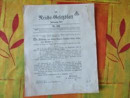 REICHS GESETZBLATT JAHRGANG 1918 Nr 122  9 SEPTEMBER 1918 - Revues & Journaux