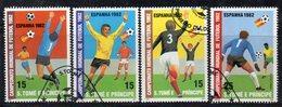 APR2540 - ST. THOMAS PRINCE 1982 , Yvert  Serie N. 678/681  Usato  (2380A) Spagna Football Calcio - St. Thomas & Prince