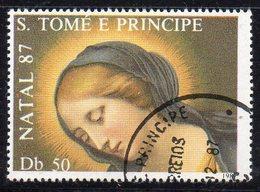 APR2561 - ST. THOMAS PRINCE 1987 , 50 Db (volto Madonna) Usato (2380A) Natale - St. Thomas & Prince