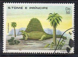 APR2710 - ST. THOMAS PRINCE 1982 , Yvert  N. 700 Usato  (2380A)  Darwin Dinosauri - St. Thomas & Prince