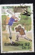 APR2774 - ST. THOMAS PRINCE 1989 , Yvert  N. 979 Usato  (2380A)  Baseball - St. Thomas & Prince