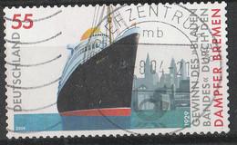 """PIA - GER - 2004 : 75° Anniversario Dell' Ottenimento Del """"Nastro Blu"""" Da Parte Del Transatlantico """"Bremen""""  - (Yv 2171) - Usati"""
