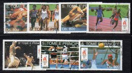 APR2947 - ST. THOMAS PRINCE 1993 , Yvert 1195/1202 (manca Solo 1198 Football) Usati  (2380A) Atlanta - St. Thomas & Prince