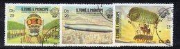 APR2930 - ST. THOMAS PRINCE 1983 , Yvert  Serie N. 741/743  Usato  (2380A) Mongolfiere - St. Thomas & Prince