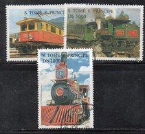 APR2937 - ST. THOMAS PRINCE 1995 , Tre Valori Usati  (2380A) Treni Locomotive - St. Thomas & Prince