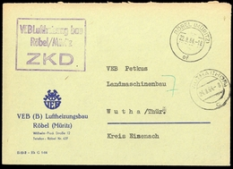 1964, DDR Dienst Und ZKD Allgemein, ZKD, Brief - DDR