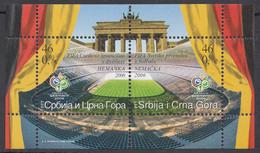 Yugoslavia 2006 Soccer Football FIFA World Cup Sport Germany Flag Stadium Deutschland, Block, Souvenir Sheet MNH - 2006 – Germany