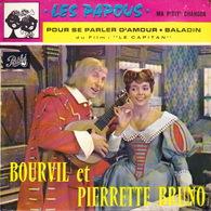 BOF - EP - 45T - Disque Vinyle - Les Papous - Bourvil Et Pierrette Bruno - N° 523 - Filmmusik