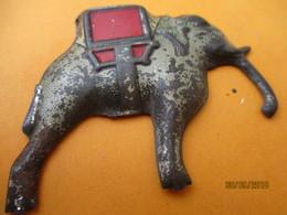 Animal /Fer Embouti Cloisonné Peint/ ELEPHANT D'ASIE/ élément De Décoration /JOUET  / Vers 1900               MED303 - Toy Memorabilia
