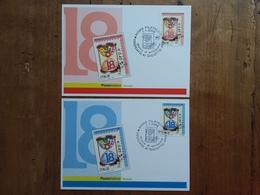 REPUBBLICA - 2 Cartoline Maximum Per I Diciottenni + Spese Postali - 6. 1946-.. Repubblica