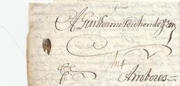 539/31 -- Lettre Précurseur LISBONNE 1686 Vers AMBERES Anvers - Port 1 Schilling 4 Stuivers ( Encre) - Très Frais - ...-1853 Vorphilatelie