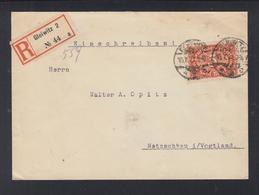 Dt. Reich Polen Poland R-Brief 1922 Gleiwitz Nach Netzschkau - Allemagne