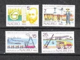 Nauru   - 1975.  Estrazione Dei Fosfati. Lavorazione E Trasporto. Complete MNH Series - Fabbriche E Imprese
