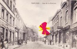 TAMINES - Rue De La Station - Superbe Carte Très Commerçante - Sambreville