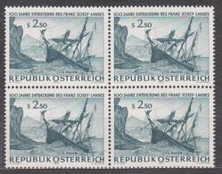 1973 , Mi 1421 ** (3) -  4er Block Postfrisch - 100. Jahrestag Der Entdeckung Des Franz Joseph Landes - 1945-.... 2. Republik