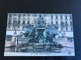 45 - LYON Fontaine Bartholdi - 1905 Timbrée - Lyon 1