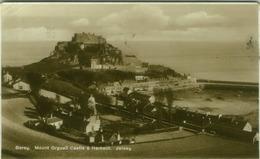IRELAND - GAREY - MOUNT ORGUEIL CASTLE & HARBOUR - JERSEY - RPPC POSTCARD 1930s  (BG7600) - Wexford