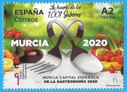 España. Spain. 2020. Capital Española De La Gastronomía. Murcia - 2011-... Nuevos & Fijasellos