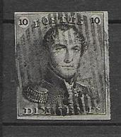 OBP1, Gestempeld Met Distributiestempel (nr. Niet Zichtbaar), Met 4 Randen - 1849 Schulterklappen