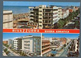 °°° Cartolina - Rivazzurra Vedute Viaggiata °°° - Rimini
