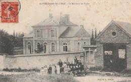 27--NOTRE-DAME-DE-L'ISLE--LA MAIRIE ET L'ECOLE--VOIR SCANNER - Frankrijk