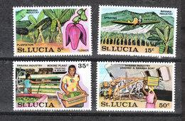 St. Lucia  - 1973.  Industria Banane: Coltivazione E Trasporto. Banana Industry: Cultivation And Transport. Complete MNH - Fabbriche E Imprese