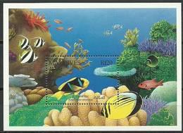 Maldives 1992 Mi Bl 222 MNH ( ZS8 MLDbl222dav37C ) - Peces