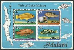 Malawi 1977 Mi Bl 49 MNH ( ZS6 MLWbl49dav37C ) - Peces