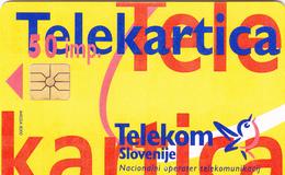 SLOVENIA - Puzzle 2 (Orange), Chip:Gemplus - GEM1A (Symmetric Black), Tirage 50.000, 07/96, Used - Slowenien