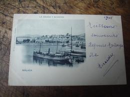 1905 Cpa Malaga  La Aduana Y Alcazada - Málaga