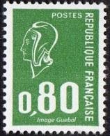 France Marianne De Béquet N° 1891 B **  Variété -> Le 0f80 Vert SANS BANDE DE PHOSPHORE - - 1971-76 Marianne De Béquet