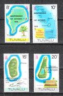 Tuvalu  - 1975. Geografia Delle Isole. Map Of The Islands. MNH - Geografía