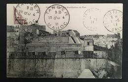 COLONIES MAROC - 1911 - CP Tanger Pour Oran - Affranchissement Timbre Coupé En 2 - Marokko (1891-1956)