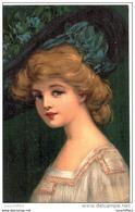 Recto,très Beau Portrait De Femme - Chapeau - Verso,publicité Cordonnerie Du Royal Gardénia - 2 Scans - Frauen
