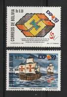 Bolivia 1992, Expo 92 2v Mnh - Bolivia