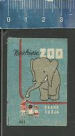 ELEPHANT ZOO PRAHA OLD CZECHOSLOVAKIA MATCHBOX LABEL SOLO SUCICE MATCH WORKS (1952-53) - Boites D'allumettes - Etiquettes
