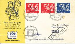 Sweden SAS First Regular Flight Stockholm - Tokyo Via The North Pole 24-2-1957 - Sweden
