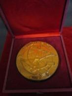 Médaille De Table/écrin/Foire De PARIS/Bronze Doré/ Maurice ROSEN /1975   MED305 - Profesionales / De Sociedad