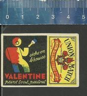 VALENTINE ( PEINTURE PAINT VERF ) OLD MATCHBOX LABEL BELGIUM UNION MATCH (THREE TORCHES) - Boites D'allumettes - Etiquettes
